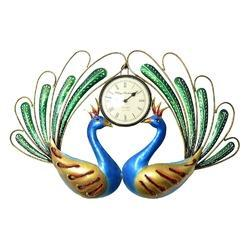 Two Peacock Wall Clock