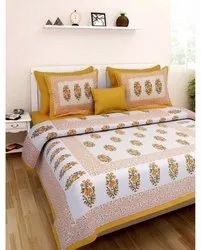 Handblock Cotton Double Bed Sheet