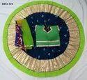 Designer Ladies Green And Blue Bhadhani Cotton Chaniya Choli, Dry Clean