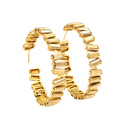 Hot Natural Beautiful Baguette Hoop 925 Sterling Silver Gold Plated Earring