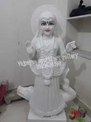 White Marble Ganga Maa Statue