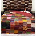 Traditional Kantha Double Bed Sheet With 2 Pillow Cover