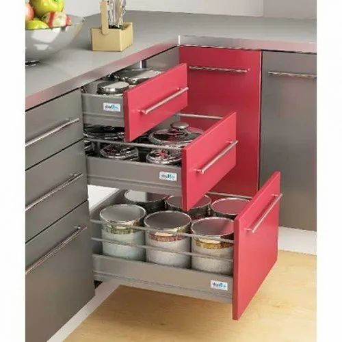 Stainless Steel Wooden Modular Kitchen Drawers For Kitchens Rs 1200 Unit Id 20767356848