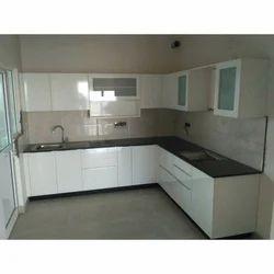 L Shape White L Shaped Modular Kitchen