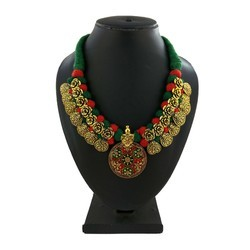 Gold Plated Thread Necklace