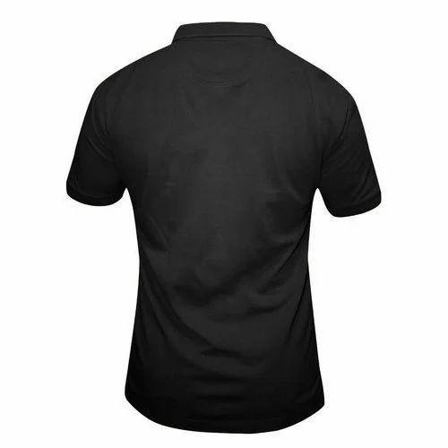 126deed9b481 Black Plain Mens Polo Plain T-shirt, Rs 200 /piece, Alphatex | ID ...