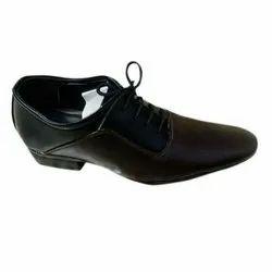 Men Black Casual Wear Leather Shoes, Size: 6-10