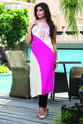 COLOR-BLOCK ASYMMETRICAL KURTI