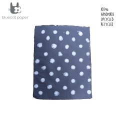 Hand design Gift wrapping paper - navy blue with white dots