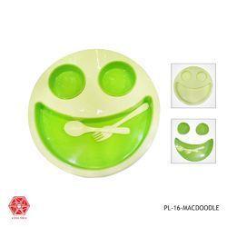 kids Plates Smiley Face Dish Mac Doodle Plate Kids Children-Pl-16