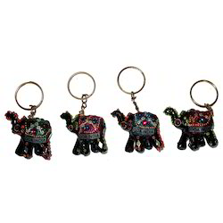 Lac Goa India Elephant Keychain