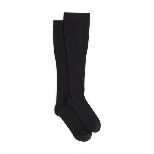 Nylon Black Full Length Socks, Size: Free
