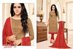 Round Neck Maarisha Suit Salwar Fabric