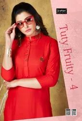 Tuty Fruty Vol-4 Rung Casual Wear Fancy Rayon Kurtis