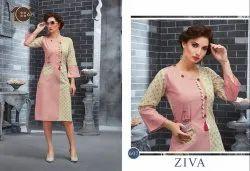 Stitched Embroidered Ziva Fashion Kurti