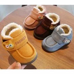 None Printed Or Teddy New born kids shoes, Size: 0-12 Months