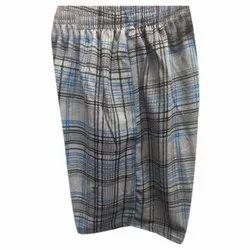 Cotton Lycra Thigh Length Mens Check Shorts