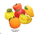 Pvc Fruits 6 Pieces Toys