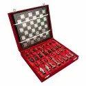 12 Brass Carving International Chess Set