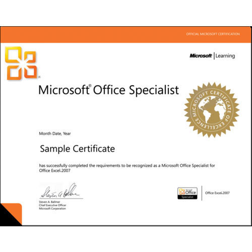 Certification Course In MS Excel And MS Word Service in Om Complex ...