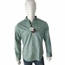 Collar Neck Mens Designer Cotton Shirt