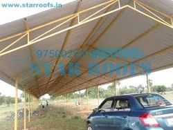 Parking roofing shed