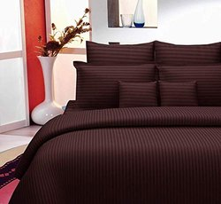Satin Striped Cotton Bedsheets for Single Bed