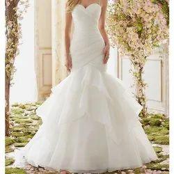 White Cotton Ladies Holy Communion Dress, Dry clean