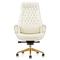 White High Back Leather Executive Chair