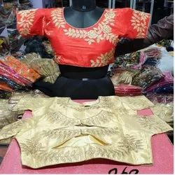 Hand Embroidered Raw Silk Blouses