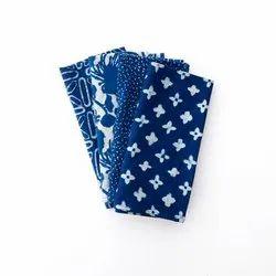 Printed Blue Indigo Cotton Napkin For Kitchen