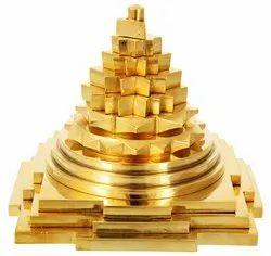 Kesar Zems Brass Meru Prusth Shree Yantra (10x10x10cm & 7.5x7.5x7.5cm & 5x5x5 cm & 3x2.5x2.5 cm )
