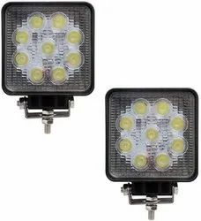 9 LED - 27 W Square Lamp