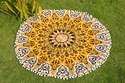 Yellow Star Mandala Cushion Cover