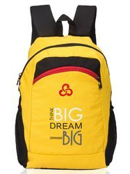 Yellow & Black College Casual Bag for Girls