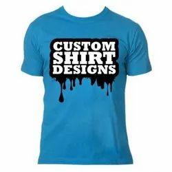 Polyester Men Sublimation Round Neck Half Sleeve T Shirt-SARINA