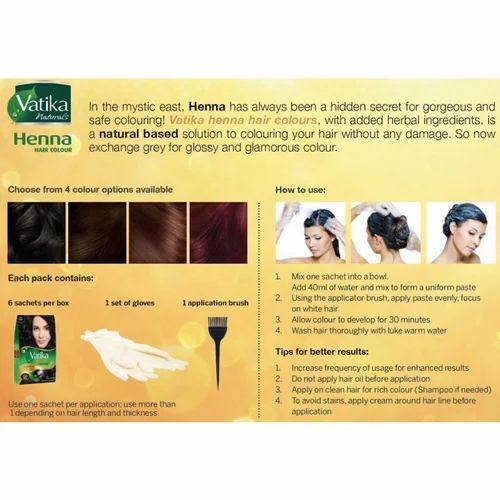 Rich Black Dabur Vatika Henna Hair Colour Rs 999 Piece Id