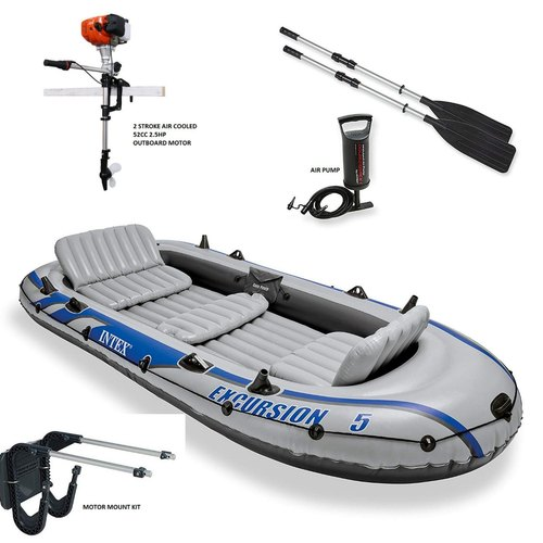 Intex 5 Person Inflatable Boat With 2 5hp Outboard Motor