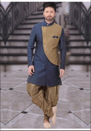 bc97bc4aeb0c Retailer of Readymade Dark Blue Indo Western Sherwani With Dhoti ...