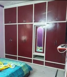 ASF Red Wall Fitted Almirah, For Home, Size/Dimension: 120*108*22