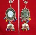 Alloy Silver Nk Handmade Trendy Oval Jhumki Multy Ghungru, Size: Free