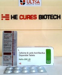 Cefixime 200 Mg L Lactic Acid Bacillus 60 Million Spores Tablet