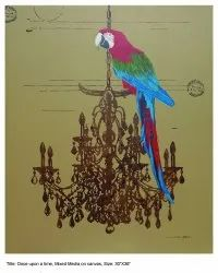 Sukanta arthouse Painting Once Upon a Time Acrylic On Canvas, Size: 30
