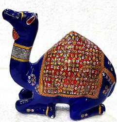 Metal Painted Sitting Camel