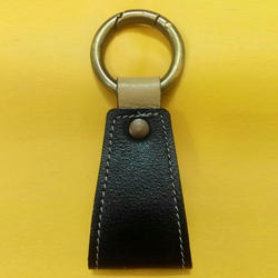 Black Leather Key Ring