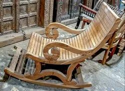 Traditional Teak Wood Easy Chair