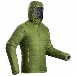 Decathlon TREK 100 HOOD Green Pipe Men Mountain Trekking Padded Jacket