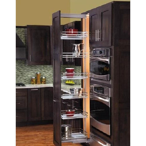 Pull Out Brown Kitchen Pantry
