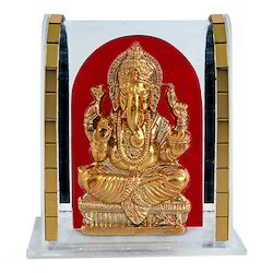 Gold Plated Lord Ganesh Cabinet Idol Corporate Gift Item