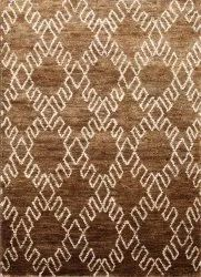 Daimond Rectangular Jute knotted carpet, For Home